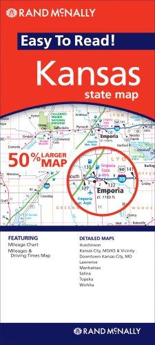 Rand McNally Easy to Read! Kansas State Map por Rand McNally