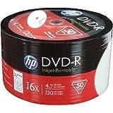 HP DVD-R 16x Speed 4,7GB Printable 50er Spindel DVD-Rohlinge