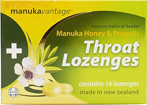 Manukavantage Manuka Honey & Propolis - 16 Manuka Hönig Hals-Lutschtabletten