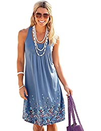 Cami-sunny Beach Wear Sleeveless Beach Dresses Women Sexy Swimsuit Cover Up  Loose Casual Printed 1453d2fc7ff2