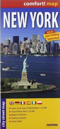 Nueva York, plano calejero plastificado. Escala 1:17.500. ExpressMap. (City Plans) por VV.AA.