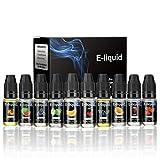 Wotek 10 x 10 ml E-líquido para Cigarrillo Electrónico, Líquidos para Vape Cigarros,...