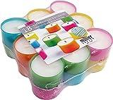 18 Gastro - Teelichter im farbigen Acrylcup, 6 Std. Brenndauer, Sonderposten, Menge begrenzt