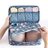 Viaggio viaggio impermeabile multi-funzionale biancheria intima sacchetto di immagazzinaggio reggiseno finitura borsa viaggio classificazione custodia, blu