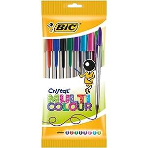 BIC Cristal Multicolor – Caja de 8 bolígrafos, colores fashion y regulares