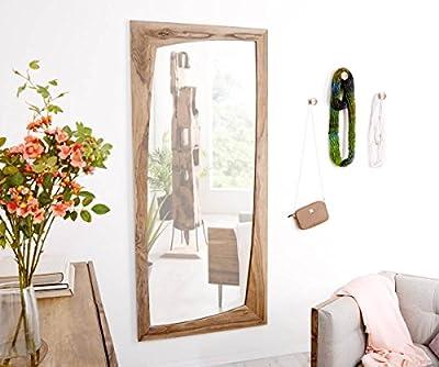 Spiegel Wyatt Sheesham Natur 160x70 cm Unregelmäßig Designer Wandspiegel