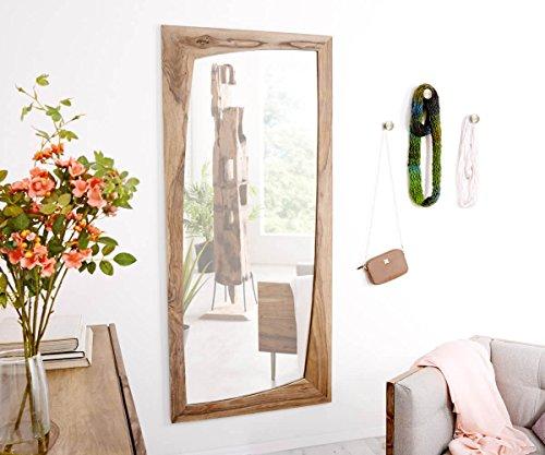 DELIFE Spiegel Wyatt Sheesham Natur 160x70 cm Unregelmäßig Designer Wandspiegel