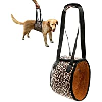 Dog Support Harness, PETBABA Mobility Rehabilitation Sling Lift Harness with Handle for Dog Aid Injury and Arthritis Leopard XL