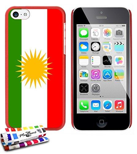 Ultraflache weiche Schutzhülle APPLE IPHONE 5C [Flagge Kurdistan] [Gelb] von MUZZANO + STIFT und MICROFASERTUCH MUZZANO® GRATIS - Das ULTIMATIVE, ELEGANTE UND LANGLEBIGE Schutz-Case für Ihr APPLE IPHO Rot