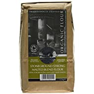 Bacheldre Watermill Organic Stoneground Strong Malted Blend Flour 1.5 kg (Pack of 4)