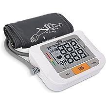 SIMBR Tensiómetro de brazo,Monitor de presión arterial, Alta precisión y fiabilidad, 90 grupos de datos con memorias, Certificado por la CE ROHS