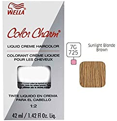 Wella Charm Liquid Haircolor, 725/7g Sunlight Blonde Brown, 1.4 Ounce