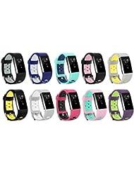 """Ersatz Fitbit Charge 2 Armbänd, BeneStellar Silikagel Weiche Silikon Verstellbare Fashion Ersatz Sport Strap Bands für Fitbit Charge2 Smartwatch Fitness Wristband (5.1""""-7"""")"""