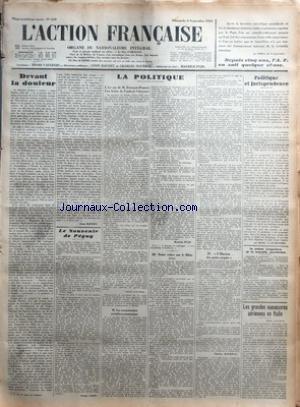 ACTION FRANCAISE (L') [No 249] du 06/09/1931 -...