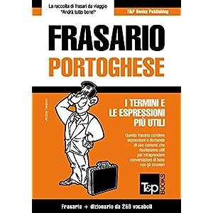 Frasario Italiano-Portoghese e mini dizionario da