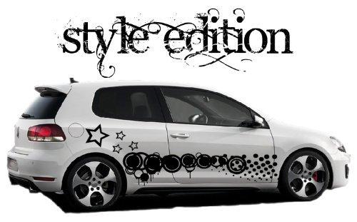 DD Dotzler Design – Style Edition – Auto Car Tribal Autoaufkleber Vinylfolie inklusive Übertragungsfolie, Schwarz - Flag 2 Ornament