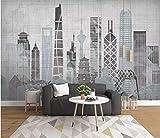 HONGYUANZHANG Moderne Stadtarchitektur Tapete Des Foto-3D Künstlerische Landschafts-Fernsehhintergrund-Tapete,80Inch (H) X 112Inch (W)