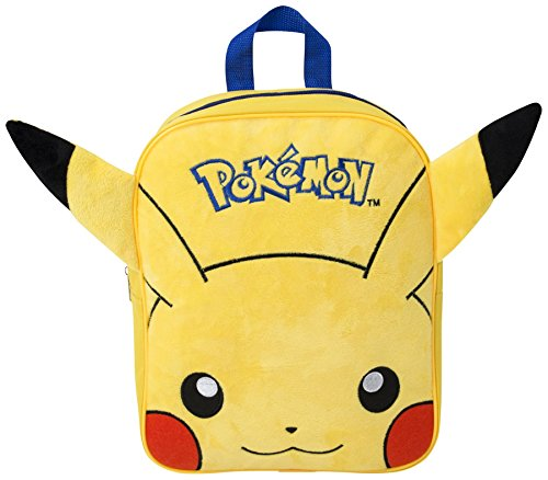 Image of POKEMON EMBROIDERED PLUSH BACKPACK PIKACHU SCHOOL RUCKSACK KIDS ADJUSTABLE NEW