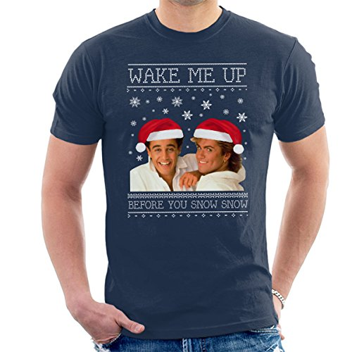 Men's T Shirt Wake Me Up Before You Snow Snow Wham Christmas Knit