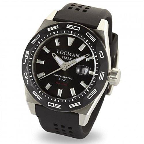 Watch Locman Men 0215V1–0kbknks2K Automatic Titanium quandrante Black Strap CAUCCIU '