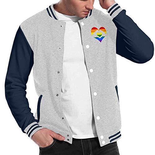 Love Lambert Mode Unisex Baseballuniform Jacke Sport Mantel Liebe ist Liebe LGBT Regenbogen Herz Herren Damen Erwachsenen Sweatshirt Outwear (Green Olive Pea Coat)