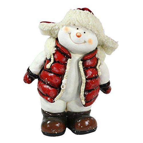 Bellissimo XXL in ceramica Natale Renna o Pupazzo di neve taglia XXL Keramik Schneemann