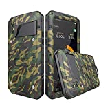 Beeasy iPhone X Handyhülle Stoßfest -Wasserdicht Schutzhülle Outdoor Militärstandard Handy Case mit Eingebautem Displayschutz,[Waterproof|Robust|Metall |Bumper] Heavy Duty Hülle iPhone 10,Camouflage
