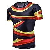 Kanpola Shirt Herren Slim Fit 3D Print Kurzarm Ländershirt Weltmeisterschaft Deutschland T-Shirt
