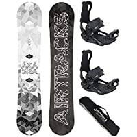 AIRTRACKS SNOWBOARD SET - TABLA AKASHA WIDE 157CM - FIJACIONES MASTER L - SB BAG