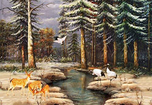 Forest Creek Crane Deer Puzzle 1000 Teile Für Erwachsene Aus Holz Deer Creek Cottage