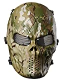 Outgeek Airsoft Mask with Metal Mesh Eyes Protection Full Face Paintball Mask, Outdoor