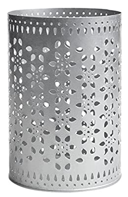 Rikki Tikki 488742 Casa de Luxe Lucky Hurricane Candle Holder Large Metal Silver by Rikki Tikki