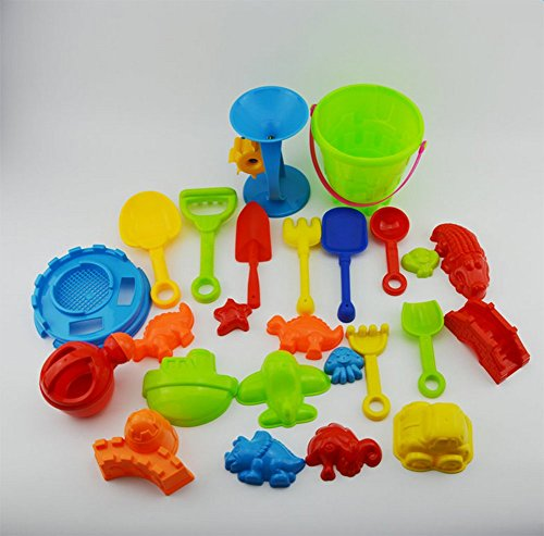 LAMEIDA Juguetes de Playa Juguete Cubo de Playa Arena Castillo Juego Coche para Niños Plástico 25 piezas