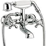 Zweigriffmischer Athenas für Wanne inklusive Brausegarnitur   Chrom   Wasserhahn   Badewannenarmatur   Wannenbatterie