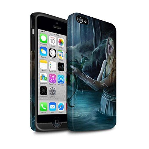 Officiel Elena Dudina Coque / Matte Robuste Antichoc Etui pour Apple iPhone 4/4S / Pack 5pcs Design / Dragon Reptile Collection Eau/Bébé