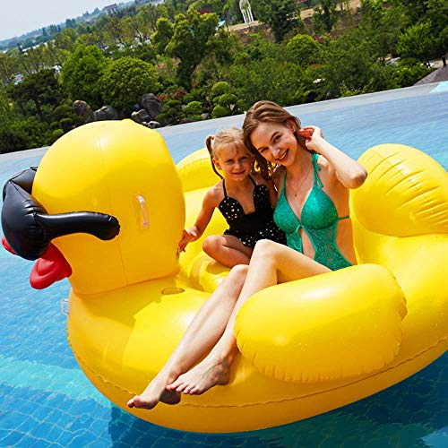 WWFF Sommer Erwachsene Wasser Spielzeug Aufblasbare Große Gelbe Sonnenbrille Entenhalterung Schwimm Reihe Schwimmbad Strand Meer Schwimmbett Sofa Sitz 190 * 155 * 95 cm Gemütlich