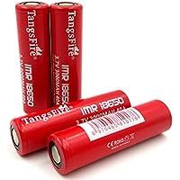 4pcs Tangsfire IMR 18650 3000mAh 3.7V piano superiore 40A batteria ad alta scarico batteria ricaricabile + di sicurezza, capacità di 2800mAh reale