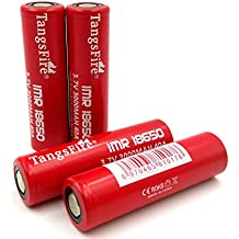 4pcs Tangsfire IMR 18650 3000mAh 3.7V batería superior plana de la batería 40A alta batería recargable + caja, capacidad verdadera 2800mah