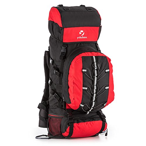 yukatana Almer • Trekking-Rucksack • Wanderrucksack • Backpacker • 80 Liter Volumen • gepolsterte Tragegurte • verstellbar • Schulter- und Rückenpolster • Haltegurte • 10 Liter Daypack • Polyester D600 • wasserabweisend • Regencover • verschiedene Farben