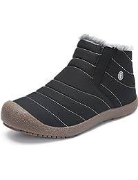 Warm Gefüttert Boots Wasserdicht Stiefel Winterschuhe Winterstiefel Kurzschaft Schneestiefel Outdoor Schlupfstiefel für Herren Damen