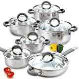 Cook N Home 02410 12 Piece Stainless Steel...