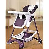 XWZ Sillas de bebé Bebé silla de comedor Sillas de niños multifunción Bebé plegable portátil del asiento de comer Bebé comedor de mesa Varios ( Color : Purple )