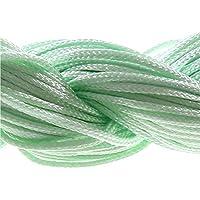 Filo in nylon a cordoncino, 24 m x 1 mm, per gioielli e perle Shamballa tibetane, colore: verde