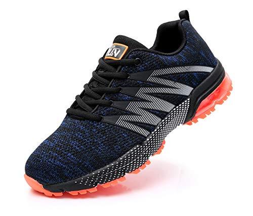 Azooken Unisex Uomo Donna Scarpe da Ginnastica Corsa Sportive Fitness Running Sneakers Basse Interior Casual all'Aperto(8995 BlueOR40)