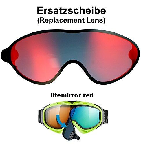 uvex comanche TO off ess Ersatzscheibe für Skibrille comanche als take off - single lens litemirror red