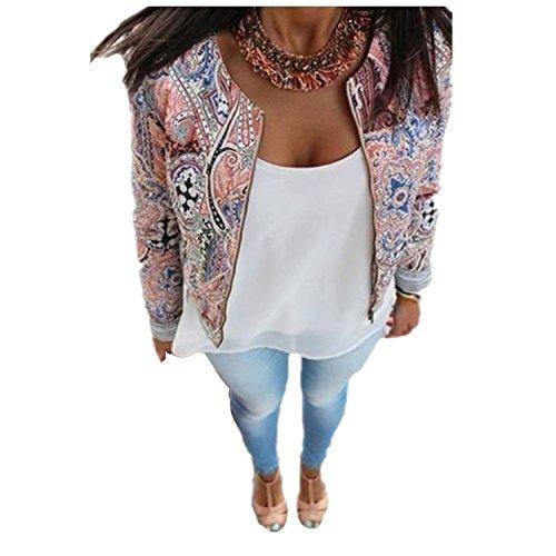 ZEARO Damen Blumen Schlank Lässige Sommer Blazer Anzug Jacke Mantel abtragen Oberteile