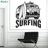 zhuziji Voiture chargée de Planches de Surf Sticker Mural émotionnelle décoration...