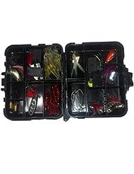 JOYOOO 33Pcs artificielle Appât de pêche aux leurres Spinner Set dur leurre souple Minnow cuillère pour les amateurs de pêche