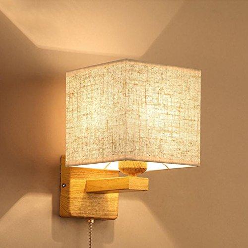 fixé au mur La lampe de mur de lecture, étude moderne simple de salon d'hôtel de chevet de chambre a mené le mur avec le commutateur (style : C)