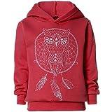 BEZLIT Mädchen Kapuzen Pullover Pulli Hoodie 21672, Farbe:Dunkelrosa, Größe:128